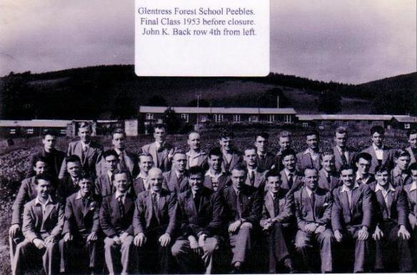 Glentress Forestry School 1953    Place of training for John Keenleyside