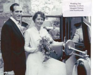John and Margaret Keenleyside's wedding in 1953