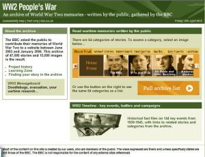 BBC World War Two People's Archive