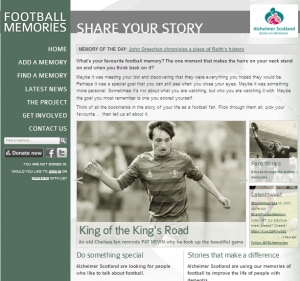 football memories website