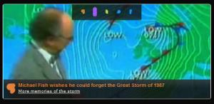 Michael Fish memory of the Storm of 1987