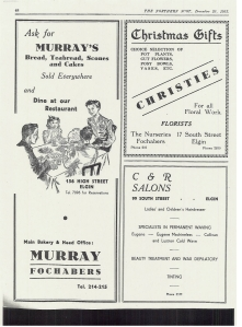 Christies garden centre advert from 1953- Northern Scot Christmas Edition