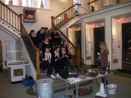 Elgin Museum visit by Elgin High Students
