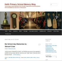Keith Primary School memory by Stewart Cree