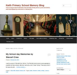 Keith Primary School Memory Blog