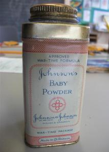 Old Baby powder brought into school by Eleanor Webster