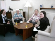 Andersons Care home visit by Elgin High School Students
