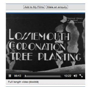 Link to Scottish Screen Archive-Coronation tree planting
