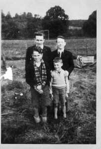 Ron Aitchison and three of his brothers