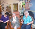 Interviewing local residents at Linnburn Day Centre at Rothes