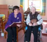 98 year local resident Lena at Linnburn Day Centre at Rothes