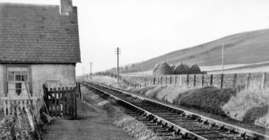 Site of Birchfield Halt View NW, towards Elgin; ex-GNS Keith - Dufftown - Craigellachie - Elgin line. Halt closed 7/5/56, line closed to passengers 18/10/65, goods 4/11/68.  source: Wikimedia Commons image