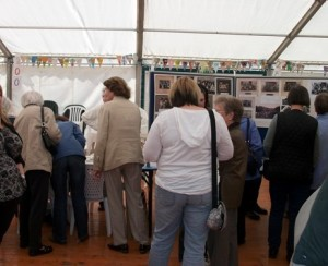 Looking at archive photographs at the Aberlour Bicentenary Reunion Day on Saturday 14th September