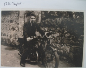 Peter Taylor on his bike. Photograph from a collection brought by a visitor to the reunion event