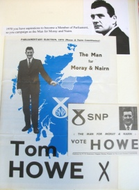 1970 election campaign information for Tom Howe