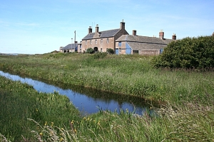 Tugnet buildings at the mouth of the Spey source: http://www.geograph.org.uk/photo/1367659