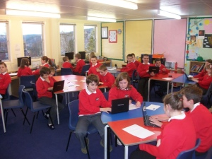 Craigellachie P5/6/7 class looking into their local village hall's history