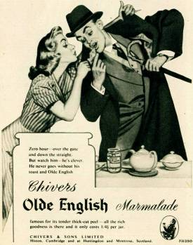 Chivers Marmalade advert 1952 from History world website