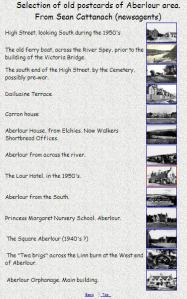 Selection of old Postcards from the Aberlour Area