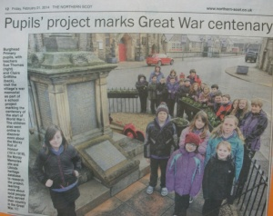 Northern Scot article WW1 project