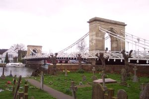 Marlow Bridge Copyright 2004 Christopher J. Wood. GNU Free Documentation License,