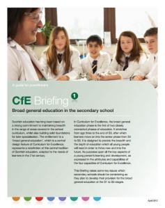 CfE briefings 1