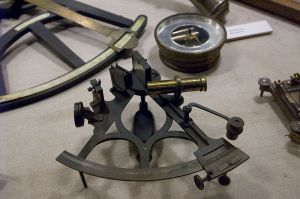 Sextant. compass and octant Source wikicommons
