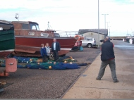 Press and Journal Burghead harbour visit