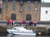 Burghead harbour visit