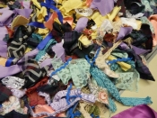 a very colourful clootie rag rug