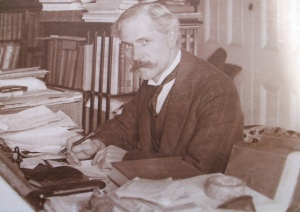 James Ramsey MacDonald in his PM's office