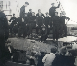 Ramsay MacDonald on a Gordonstoun School boat