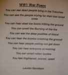 WW1 Poem by Lauren