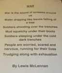 WW1 poem by Lewis