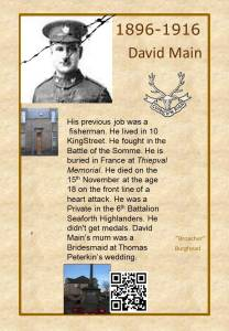 David Main died on the Somme