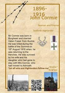 John Cormie died on the Somme